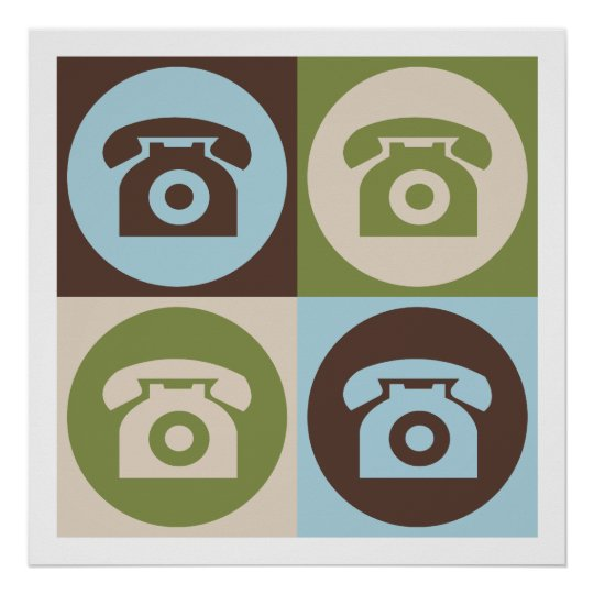 Pop Art Telephones Poster
