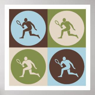 Pop Art Tennis Poster