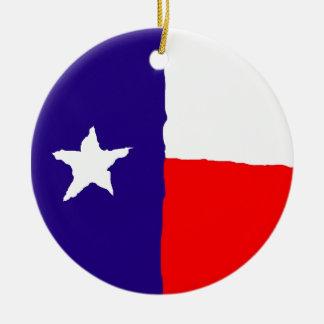 Pop Art Texas State Flag Ceramic Ornament