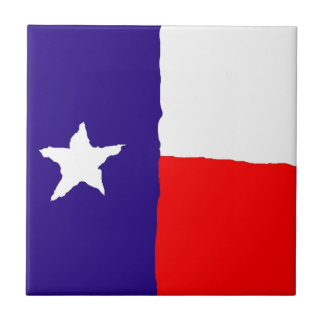 Pop Art Texas State Flag Ceramic Tile