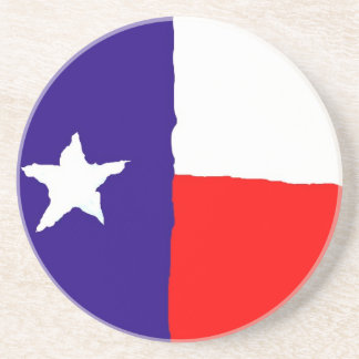 Pop Art Texas State Flag Drink Coaster