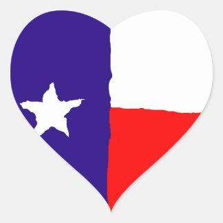 Pop Art Texas State Flag Heart Sticker