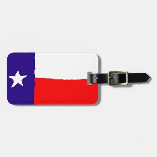 Pop Art Texas State Flag Luggage Tag