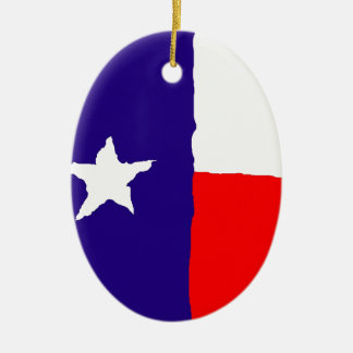 Pop Art Texas State Flag Christmas Tree Ornaments