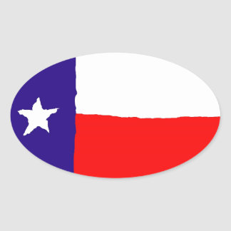 Pop Art Texas State Flag Oval Sticker
