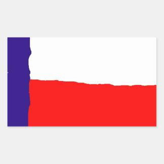 Pop Art Texas State Flag Rectangular Sticker