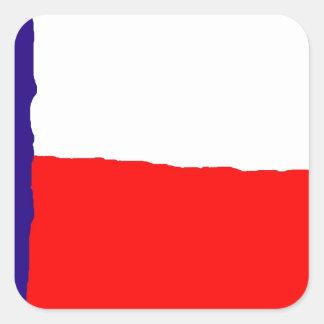 Pop Art Texas State Flag Square Sticker
