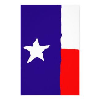 Pop Art Texas State Flag Stationery