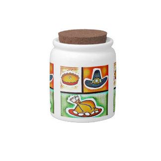 Pop Art Thanksgiving Dinner Candy Jar