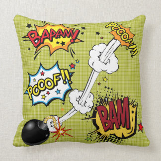 "Pop Art  ""The Bomb"" Throw Pillow"