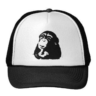 Pop Art Thinking Chimpanzee Trucker Hat