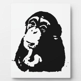 Pop Art Thinking Chimpanzee Plaque