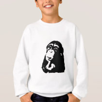 Pop Art Thinking Chimpanzee Sweatshirt