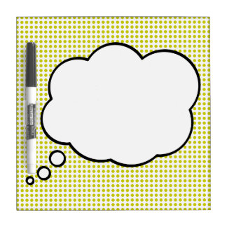 Pop Art Thought Bubble Dry Erase Message Board