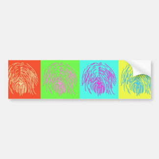 Pop Art Tibetan Terrier Bumper Sticker