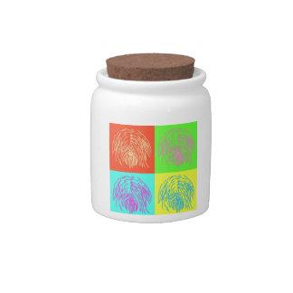 Pop Art Tibetan Terrir Treat Jar Candy Jars