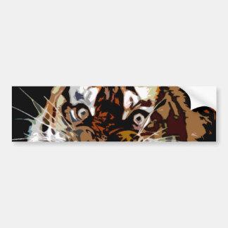 Pop Art Tiger Bumper Sticker