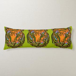 Pop Art TIGER HEAD + your backgr. & ideas Body Pillow