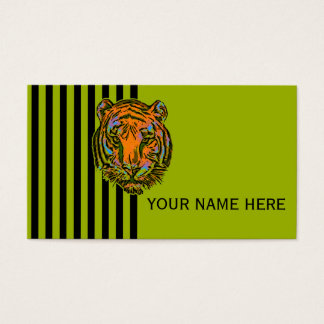Pop Art TIGER HEAD + your backgr. & ideas Business Card