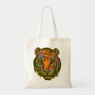 Pop Art TIGER HEAD + your backgr. & ideas Tote Bag