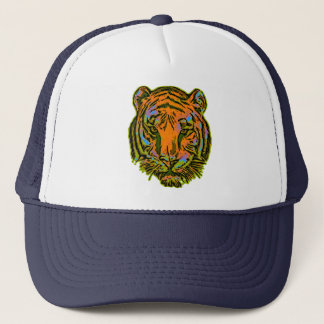 Pop Art TIGER HEAD + your backgr. & ideas Trucker Hat