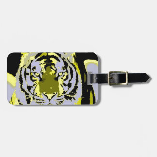 Pop Art Tiger Tag For Bags