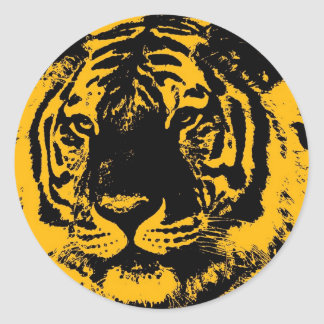 Pop Art Tiger Classic Round Sticker