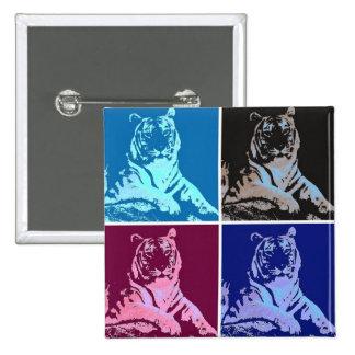 Pop Art Tigers Pinback Button