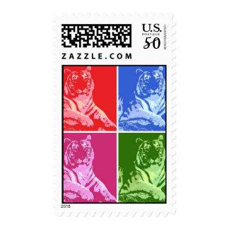 Pop Art Tigers Postage