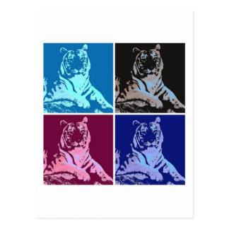 Pop Art Tigers Postcard