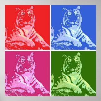 Pop Art Tigers Print