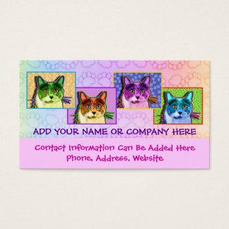Pop Art Tom Cat Business Card