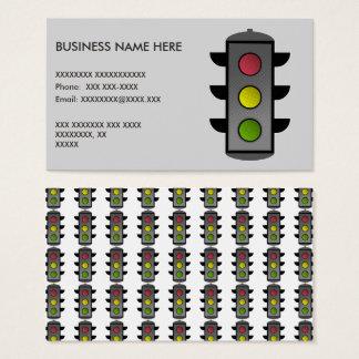 Pop Art Traffic Light Business Card