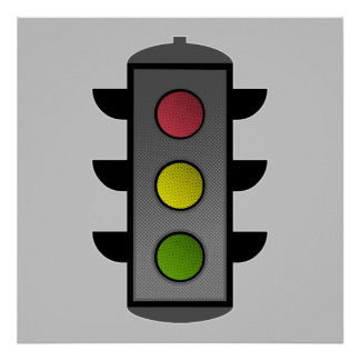 Pop Art Traffic Light Poster