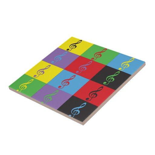 Pop Art Treble Clef tile