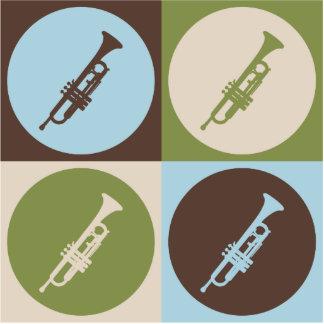 Pop Art Trumpet Cut Outs