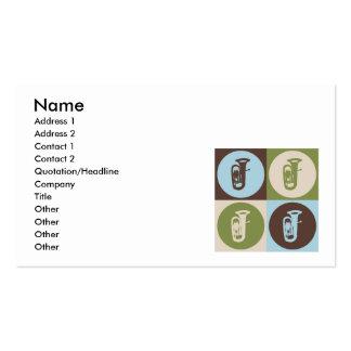 Pop Art Tuba Business Card