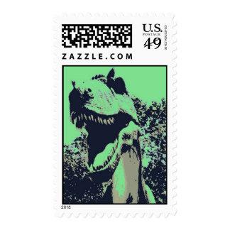 pop art Tyrannosaurus Rex Postage Stamp