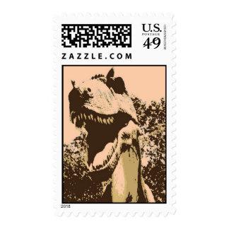 pop art Tyrannosaurus Rex Postage Stamps