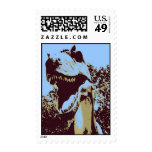 pop art Tyrannosaurus Rex Stamps