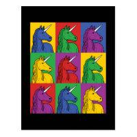 Pop Art Unicorn Postcard