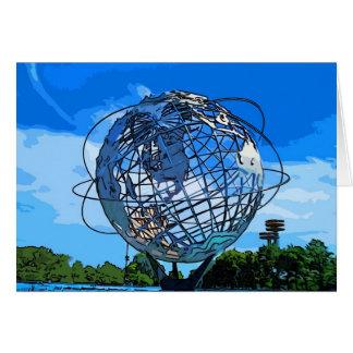 Pop Art Unisphere Greeting Card