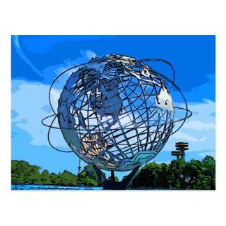 Pop Art Unisphere Postcard