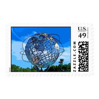 Pop Art Unisphere Stamps