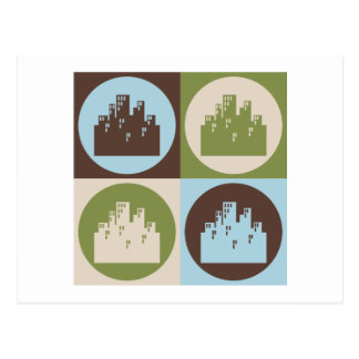 Pop Art Urban Planning Postcard