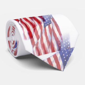 Pop Art US American Flag Neck Tie
