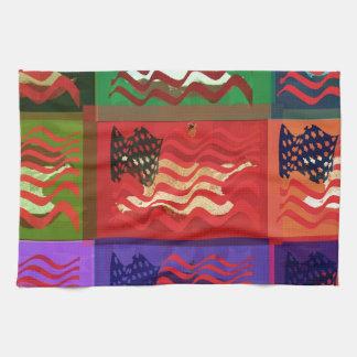 Pop Art USA Flag Hand Towel