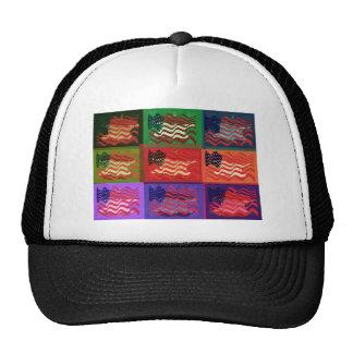 Pop Art USA Flag Trucker Hat