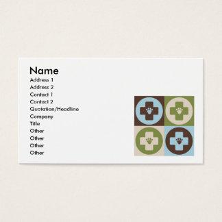 Pop Art Veterinary Medicine Business Card
