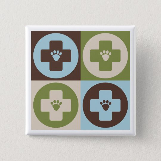 Pop Art Veterinary Medicine Button